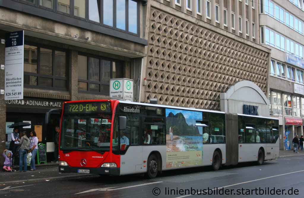rheinbahn 6836 mit tb f r tui aufgenommen am hbf d sseldorf 27 linienbusbilder. Black Bedroom Furniture Sets. Home Design Ideas
