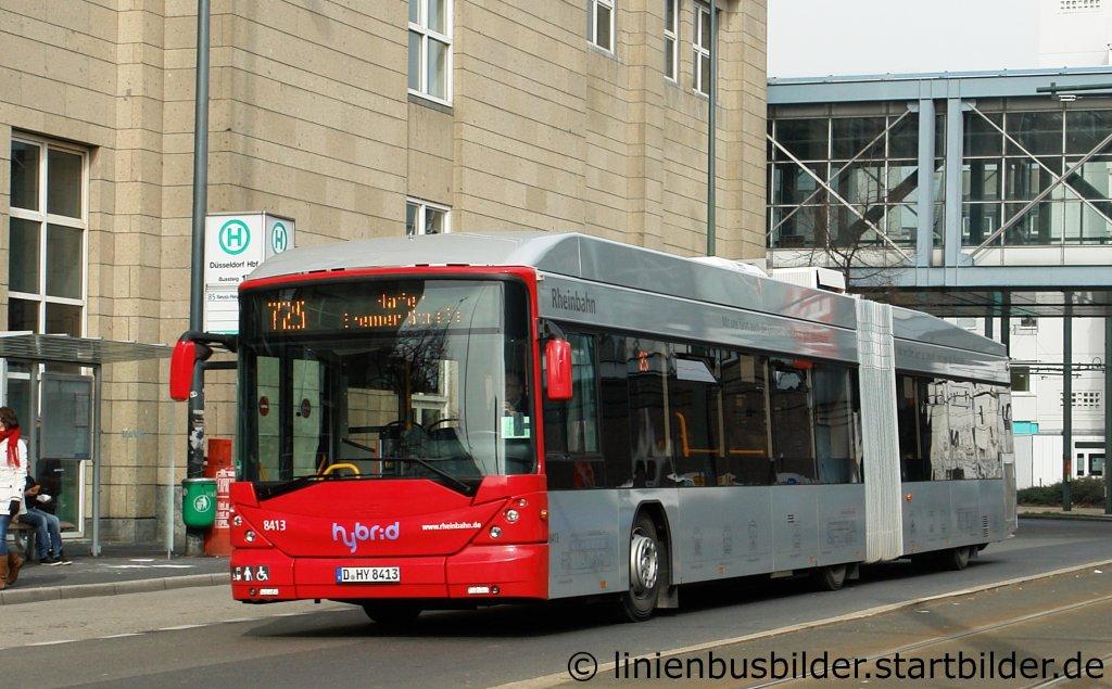 rheinbahn 8413 aufgenommen am hbf d sseldorf 5 dies ist einer der vielen hybrid busse. Black Bedroom Furniture Sets. Home Design Ideas