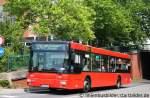 MAN Niederflurbus 2. Generation/164902/mvg-094er-hat-mal-werbung-fuer MVG 094. Er hat mal Werbung für das Forum Mülheim gemacht. Deshalb die Rote Farbe. Aufgenommen am HBF Mülheim/Ruhr.