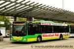 MAN Niederflurbus 3. Generation/171537/sto-661-hat-jetzt-auch-die STO 661 hat jetzt auch die Werbung für Möbel Rück erhalten. Aufgenommen am Bahnhof Oberhausen Sterkrade, 18.9.2011.