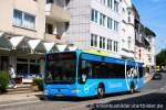 mercedes-benz-o-530-ii-citaro-facelift/163798/mvg-6136-mit-werbung-fuer-hrwaufgenommen MVG 6136 mit Werbung für HRW. Aufgenommen auf der Hauptstrasse in Kettwig, 1.6.2011.