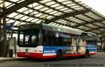 neoplan-n-44-serie-centroliner/176539/vestische-2419der-bus-traegt-die-neue Vestische 2419. Der Bus trägt die Neue Volksbank Werbung. Aufgenommen am HBF Recklinghausen, 18.1.2012