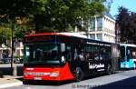 setra-s-400er-serie/168144/bils-11der-bus-wirbt-fuer-mersmann Bils 11. Der Bus wirbt für Mersmann Design. Aufgenommen am Ludgeriplatz in Münster, 5.7.2011.