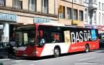 aachen/123490/aseag-158-ac-l-339-wirbt ASEAG 158 (AC L 339) wirbt für DASDA. Aufgenommen in Aachen Stadtmitte, 4.6.2010.